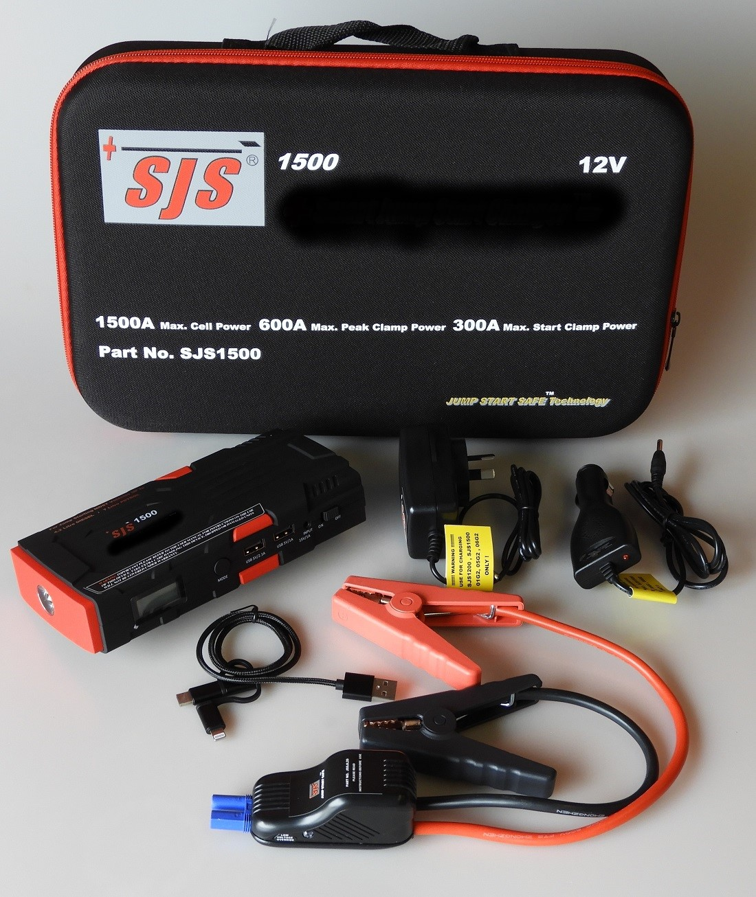 Sjs1500 Personal Power Pack Jump Starter 1500amp Car Battery Charger With Shortcircuit Protection For Safe Charging